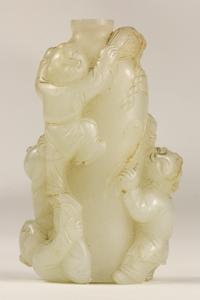 Chinese Carved White Nephrite Vase