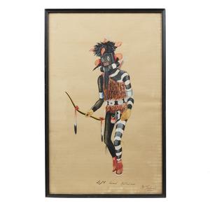 Kyrate Tuvahoema (1914-1942) Hopi Painting