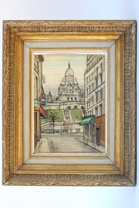 View of Sacré-Cœur Painting by Paul Lambert
