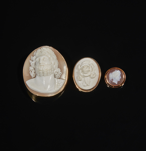 Three Cameo Brooches