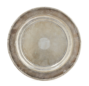 Silver Footed Round Tray, 14.7 ozt