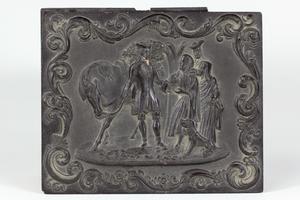 Double Daguerreotype Portrait in A. P. Critchlow and Co. Gutta Percha Quarter Plate Union Case