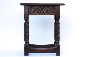 Antique Jacobean Style Stool