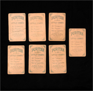 Jack Rose and Puritan Little Cigars Cards