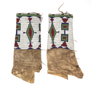 Plains Indian Beaded Hide Leggings