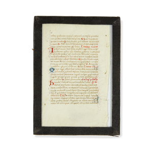 Handwritten Manuscript Page, Book of Hours, ca 1400