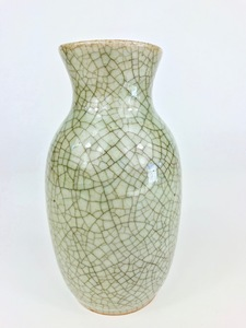 Small Chinese Celadon Crackle-Glaze Vase