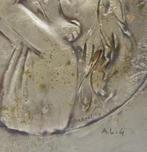Bronze Bas Relief Tile, Giacomo Manzu (1908-1991)