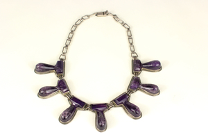 Mexican Sterling Silver and Amethyst Necklace
