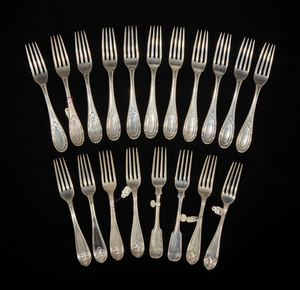 Assorted Coin Silver Forks