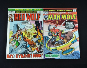 Marvel Comic Collection - Red Wolf #2 and Man-Wolf #35