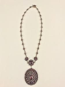 Bohemian Garnet in Vermeil Necklace