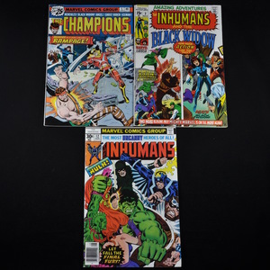 Marvel Comic Collection - Amazing Adventures Vol. 2 #3; The Inhumans #12; The Champions #5; The Defenders #34, #35, #37