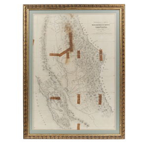 Topographical Sketch of the Gold & Quicksilver District of California 1848