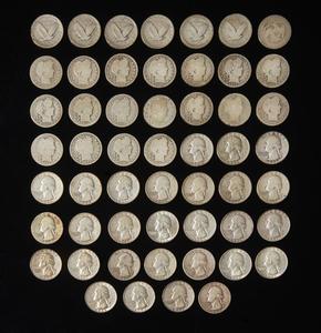 53 Assorted Pre 1964 Quarters