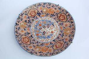 Large 19th Century Japanese Porcelain Charger, Imari Ware