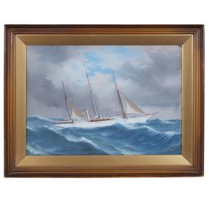 Marine Painting, Antonio de Simone (1851-1907),