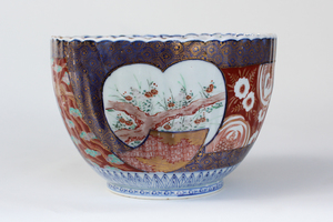 Small 19th Century Fluted Japanese Porcelain Bowl, Imari Ware