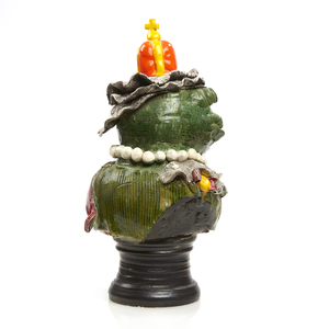 Ceramic Bust, David Gilhooly III (1943-2013),