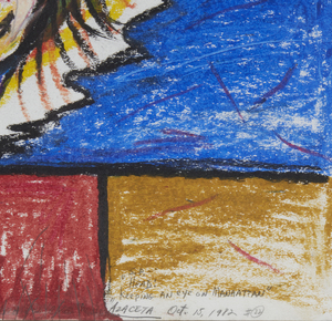Painting, Luis Azaceta (b. 1942),