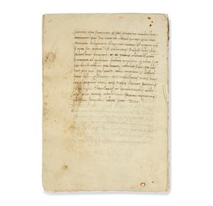 Handwritten Document written in Latin circa 1453
