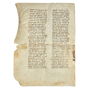 Manuscript Page on Vellum circa 900 a.d.