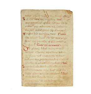 Handwritten on Vellum Dealing with Baptism circa 1200 a.d.