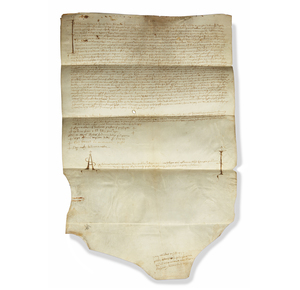 Handwritten Legal Contract on Vellum dated 1493