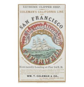 C.A. Farwell San Francisco Clipper Ship Sailing Card