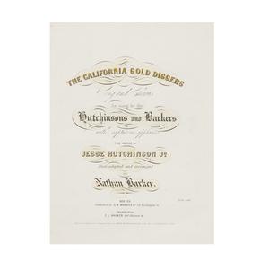 California Gold Diggers, Printed 1849