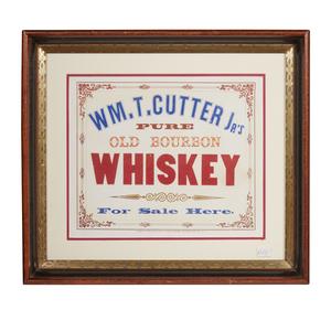 Wm T. Cutter Jr. Old Bourbon Whiskey Advertisement, circa 1863-1864