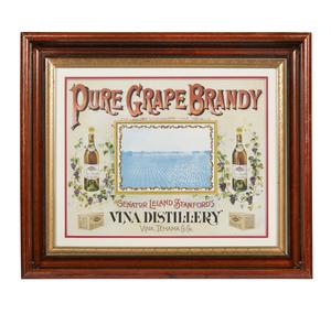 Senator Leland Stanford's Vina Distillery Advertisement