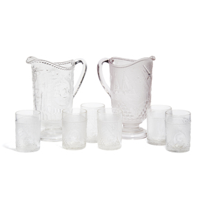 Admiral Dewey Commemorative Glassware Set