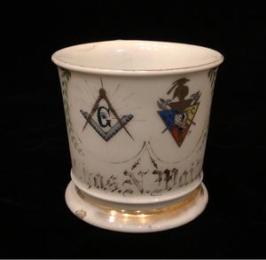 Occupational Shaving Mug with Mason Symbols