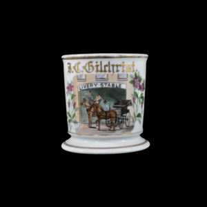 Antique Occupational Shaving Mug - Livery Stable Scene
