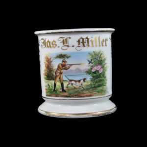 Antique Occupational Shaving Mug - Bird Hunting Scene