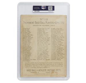 1911 T3 Turkey Red Frank Smith Cabinet Card - Checklist Back