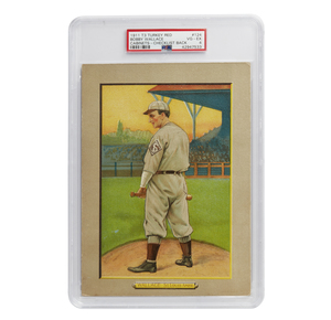 1911 T3 Turkey Red Bobby Wallace Cabinet Card - Checklist Back