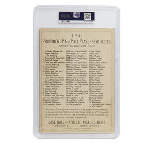 1911 T3 Turkey Red Hooks Wiltse Cabinet Card - Checklist Back