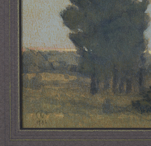 """Painting, Russell Chatham (b. 1939), """"Spring Junipers"""""""