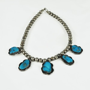 Southwest Sterling Silver and Turquoise Necklace