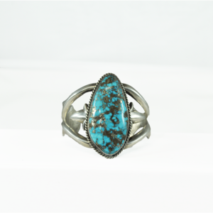 Southwest Sterling and Morenci Turquoise Cuff