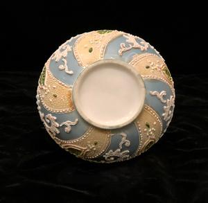 Blue & Green Japanese Moorage Beaded Porcelain Ewer