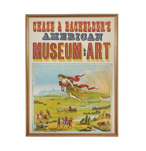 Chase & Bachelder's American Museum of Art Woodblock