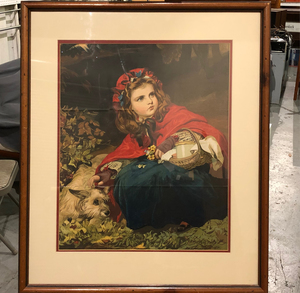 Little Red Riding Hood Print by Leighton Bros