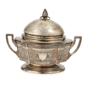 Shreve, Crump and Low Sterling Silver Butter Dish, 29.64 ozt