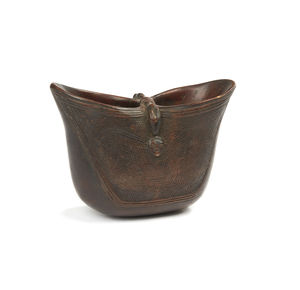 Suku Double-Mouthed Wood Cup
