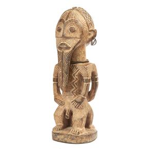 Metoko Kakungu Wood Janus Figure