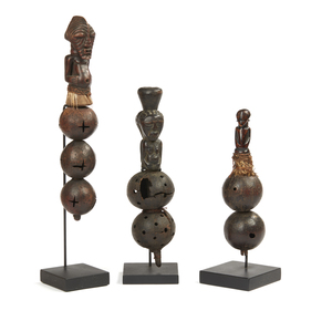 Group of Three Rattles