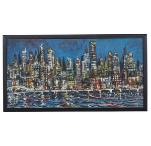 Jack Laycox (1921-1984), Painting, Cityscape